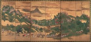 「賤ケ岳合戦図屏風」(右隻)