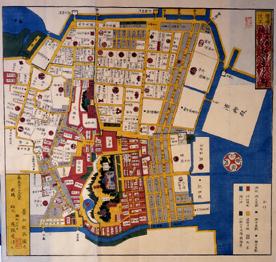 江戸時代の芝地域の地図画像