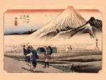 東海道五拾三次之内 原 朝之富士の画像
