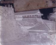 横山松三郎撮影「本丸上梅林門・二ノ丸喰違門・喰違番所」コロディオン湿板ネガ(重文)