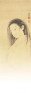 「幽霊図(お雪の幻)」(部分) 安永期 個人蔵(カリフォルニア大学 バークレー校美術館寄託)